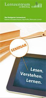 """Flyer zum Seminar """"Lesen. Verstehen. Lernen"""""""