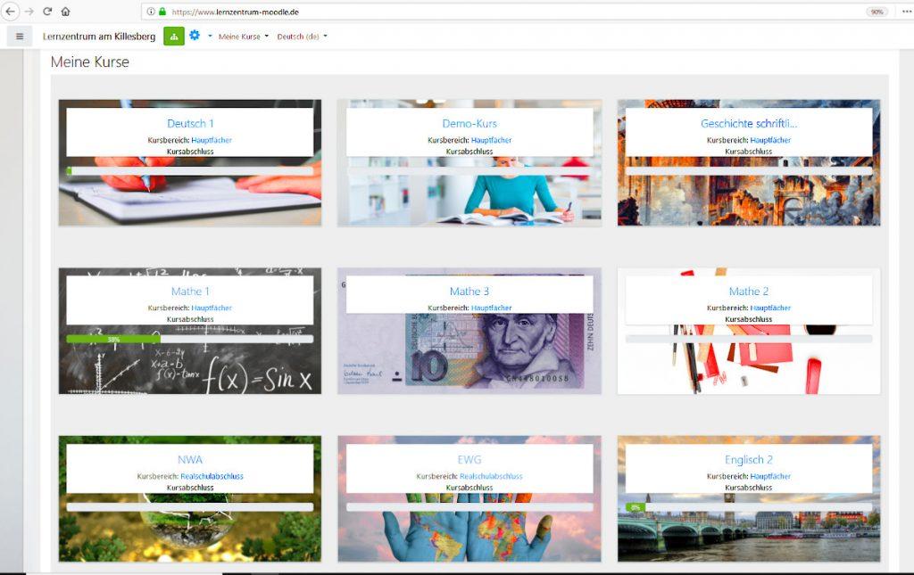 Lernzentrum Online-Plattform Moodle